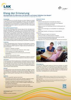 Klang der Erinnerung Musiktherapie für Menschen mit Demenz und hohem Palliative Care Bedarf